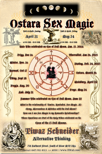 OSTARA SEX MAGIC  APRIL 21 & MAY 24 2013