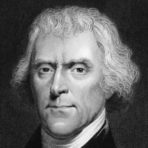 Thomas Jefferson was a draftsman of the Declaration of Independence and the third U.S. president (1801-09).
